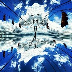 High wire flying... (acastleblue) Tags: wires skypaths greglovesadelaide art saturation allsizes acastleblue