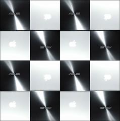 Mac Vs Pc (Giuseppe Tripodi) Tags: abstract macro apple square pc mac asus photoart portatile chessboard hitec scacchiera macbook macpro quadrati
