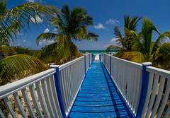 Wooden walkway. (CWhatPhotos) Tags: hotel tryp dream water warm walkway pathwalk way tothe blue wood wooden sunny day beach waters sand cuba cuban delight hot cwhatphotos cayo coco holiday time island olympus four hirds june 2016 photographs photograph pics pictures pic image images foto fotos photography artistic that have which contain digital sky skies clear sun hols pilar pilarbeach