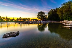 Sunset in Munich (Vladi Stoimenov) Tags: 2016 bavariabayern d610 flaucher germany landscape lightroom6 munich sky summer tripod unclouded wideangle year zoomlens light isar isarriver nikon50mmf14 picnic stone rock nightsky waterenvirons eve night evening even nightfall greatphotographers improvvisaispirazione esenciadelanaturaleza