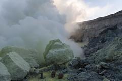 Rock coated with powdered sulphur (JohnMawer) Tags: indonesia volcano java jawatimur ijen sempol
