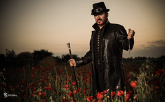 Call me Sir. (Simon Rich Photography) Tags: male look field hat leather cane canon beard model top gothic eerie location poppy essex atmospheric alternative steampunk simonrich mrmonts simonrichphotography