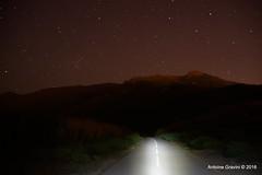 La route. (Antoine Gravini) Tags: road light sky night painting stars landscape corse corsica route ciel paysage nuit toiles