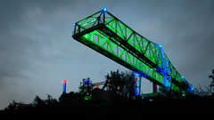 Landschaftspark Duisburg (Thilo Thomasson) Tags: extraschicht industry light ruhrgebiet germany iron blue green