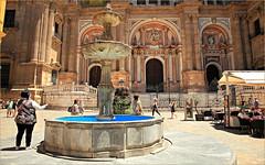 Plaza del Obispo, Cathedral de la Encarnacion, Malaga, Andalucia, Espana (claude lina) Tags: claudelina espana spain espagne andalucia andalousie malaga architecture catgdrale fontaine fountain plaza plazadelobispo cathedraldelaencarnacion