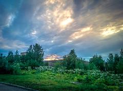 Вечернее небо над Сыктывкаром