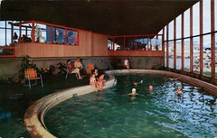 Surftides Resort Apartments, Oceanlake, Oregon (SwellMap) Tags: architecture vintage advertising design pc 60s fifties postcard suburbia style kitsch retro nostalgia chrome americana 50s roadside googie populuxe sixties babyboomer consumer coldwar midcentury spaceage atomicage