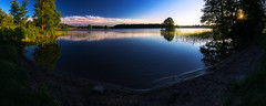 Mullsjn (Kevin Chileong Lee) Tags: panorama se see abend wasser sonnenuntergang schweden natur landschaft bume spiegelung reflektionen mullsj mullsjn jnkpingsln