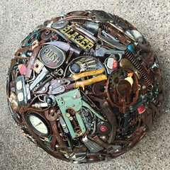 Having a Ball with a Variety of Mainly Metal Gadgetry (buddhadog) Tags: round ball metal 500x500 circular gadgets sweeper squircle junk challengeyouwinner ccc 3wins 100vu 300