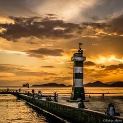 Santos - Brazil -> Instagram : @rodlilo (rgm_fotografia) Tags: santos sunset sky sun sopaulo beach beautiful praia ocean mar nikon d3300 city cidade cu clouds summer