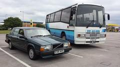 1987 Volvo 740 GLE 2.3 Auto and 1986 Volvo B10M-46 Plaxton Paramount 3200 Coach (micrak10) Tags: auto volvo coach saloon paramount gle 740 plaxton b10m46