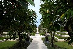 Nusa Dua, Indonesia (Nam__b) Tags: blue trees sky bali flower nature garden indonesia path
