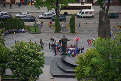 Freedom Square from Town Hall (tarmo888) Tags: aerialview lviv ukraine lvov  lww lemberg  lwow leopolis ukrayina photoimage  sooc sonyalpha   ratusha sony geosetter  geotaggedphoto nex7 sel18200 foto year2016