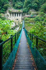 Taiwan-121116-416 (Kelly Cheng) Tags: travel bridge color colour building green tourism nature water vertical architecture river landscape daylight colorful asia day outdoor taiwan nobody nopeople canyon colourful tarokonationalpark tarokogorge  traveldestinations  northeastasia