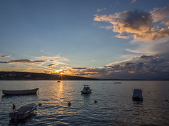 #118 Sunset over Krk (timmey1985) Tags: blue sunset summer sky sun water clouds boats boat sundown cloudy sommer himmel wolken croatia blau wolkig kroatien