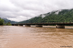 west virginia flood (dfbphotos) Tags: summer usa nature water june fog river flood places wv westvirginia fayetteville 2016 gauleybridgegauleyriver