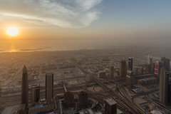 Burj Khalifa @ the Top (Joo.Martins) Tags: sunset sky sun canon dubai goldenlight atthetop burjalkhalifa burjkhalifa