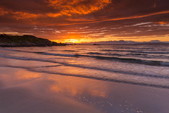 Mellon Udrigle Sunrise. (Gordie Broon.) Tags: summer seascape beach clouds marina sunrise reflections landscape geotagged scotland scenery scenic paisaje escocia hills colourful peninsula schottland gairloch westerross ecosse suilven collines scozia 2016 laide scottishhighlands quinag benmorecoigach heuvels aultbea mellonudrigle gruinardbay opinan poolewe distanthills theminch paysagemarin gordiebroonphotography canon5dmklll canon1635f4l seestuck