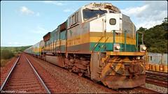 Trem de Passageiros da Estrada de Ferro Carajás - Brasil. (fernandocunha2) Tags: brazil brasil train tren trem ferrovia locomotiva passageiros tremdepassageiros estradadeferrocarajás gmsd70