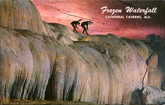Frozen Waterfall, Cathedral Caverns, Alabama (SwellMap) Tags: architecture vintage advertising design pc 60s fifties postcard suburbia style kitsch retro nostalgia chrome americana 50s roadside googie populuxe sixties babyboomer consumer coldwar midcentury spaceage atomicage