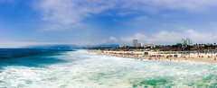 Life is short, and the World is wide! (megmcabee) Tags: california santa blue people sand pacific monica westcoast
