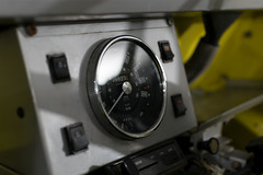MiniMokeDials (MaxwellSoul) Tags: classic cars yellow closeup vintage cool dial mini retro chrome dash workshop british speedo moke coolbritannia gaydon minimoke britishmotormuseum