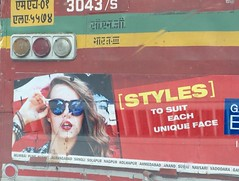 Sadly strategic paan stains. (Yazed Lord) Tags: blue red bus green stain girl yellow apt lady hair glasses model funny tag style spit lips dirty best terrible stains pan eyeglasses tragic yuk shocking paan bangles taillamp spat tagline