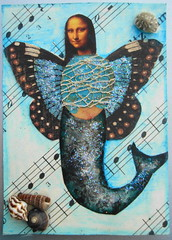 ATC Mermaid Mona 060513 NFT Made for Lets swap ATC' group, altered mona swap (ladychiara) Tags: blue atc collage mona mermaid cutandpaste