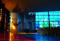 Colori della fede (Justinawind) Tags: italy rome roma colors italia chiesa organo colori lazio vetrata kosciol kolory rzym divinoamore wlochy organy witraz lacjum