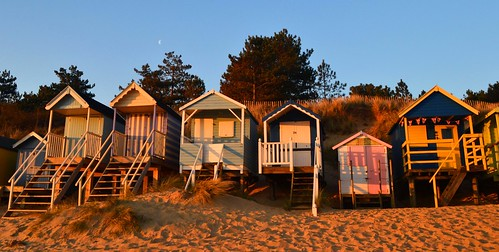 Golden glow at Wells next the Sea