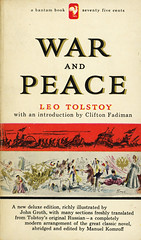 Bantam Books S1497 - Leo Tolstoy - War and Peace (swallace99) Tags: fiction classic vintage paperback russian bantam movietiein abridged