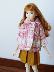 School girl (squish.tish) Tags: fashion socks doll buttons coat skirt clothes jacket schoolgirl fashiondoll sekiguchi momoko petworks dollydot squishtish
