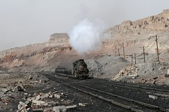 I_B_IMG_9708 (florian_grupp) Tags: china railroad train asia mine open transport railway loco steam cast xinjiang locomotive coal load js sandaoling