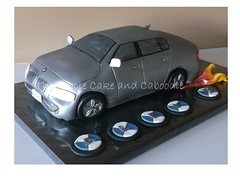 flame on (The Whole Cake and Caboodle ( lisa )) Tags: car cake silver flames jenny bmw gary whangarei caboodle