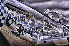 Fear the Reaper (mvonraesfeld) Tags: show california ca plane fighter grim reaper aircraft aviation air wwii north american mustang warbird hollister p51 2013 img2559