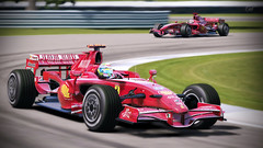 Ferrari F2007, Road Course - Indy (Metalsun1) Tags: racecar italian f1 ferrari formula1 indianapolismotorspeedway f2007