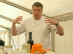 Chef Peter Sidwell at the show (Tony Worrall Foto) Tags: show new uk england food man cooking june festival demo tv candid cook tent event international chef cumbria judge celeb cumberland foodfestival foodie furness barrowinfurness 2013 southcumbria foodiefest britainsbestbakery 2013tonyworrall