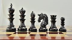 chessbazaar (chessbazaar) Tags: wood india set wooden antique indian picture chess knight triple ebony chessset chesspieces weighted chessbazaar