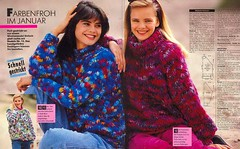 Sandra Tolle Strickmode 1991-01f.jpeg (Homair) Tags: vintage sweater sandra fuzzy fluffy mohair