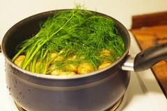 Potatoes (petrusko.rm) Tags: summer food pen potatoes sweden olympus tradition mid herring ep3 m43 mft