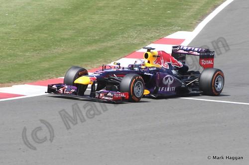 Sebastian Vettel in the 2013 British Grand Prix