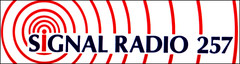 Signal Radio 257 car sticker