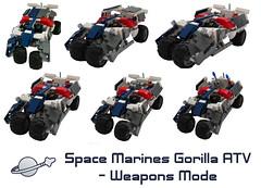 Space Marine ATV promo shot 2 (lost_scotsman) Tags: lego space scifi vehicle hybrid warthog tumbler spacemarine