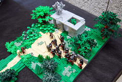 Lord of the Rings 15 (L@go) Tags: portugal lego display event lotr lordoftherings diorama orc fellowshipofthering boromir moc 2013 amonhen arteempeas