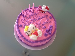 Hello Kitty cake by Brenda, Santa Cruz, CA, www.birthdaycakes4free.com