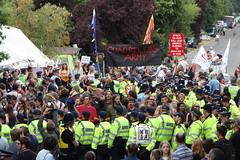 Protesters blockade Cuadrilla frack site in Balcombe, West Sussex