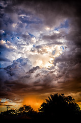 (BlackRockBacon) Tags: sunset arizona storm rain clouds pentax tucson 28mm vivitar k5 lightroom colorefexpro niksoftware