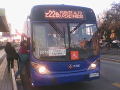 222e|Puente Alto-(M)Santa Ana (maria angelica nuñez oyarce) Tags: bus buses volvo urbano colectivos transporte marcopolo transantiago pasajeros 7231 puentealto subus locomocióncolectiva marcopologranviale troncal2 subuschile metrosantaana 222e bjfh70