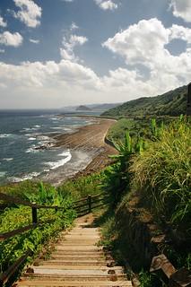 Nichinan Coast Stairs - VSCO Film Fuji Superia 100