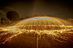 Pourring Fire (Fassih F) Tags: light lightpainting night dark painting stars fire star creative shooting steelwool stahlwolle pourring